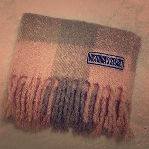 Victoria Secret Blush Check Cozy Scarf